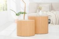 Design bijzettafel/salontafel(Ovaal) Set van 2 DIVISION van echte Eiken