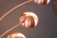 Design booglamp VIJF LICHTEN 205cm koperen vloerlamp booglamp