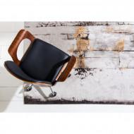 Design Bureaustoel met Walnoot accenten