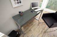 Design console GRIJS BUREAU 120cm donkergrijs hoogglans kantoortafel