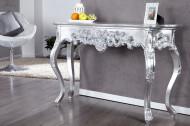 Elegante console VENICE 110 cm zilver barok design dressoir handgemaakt