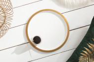 Elegante salontafel STORAGE 41 cm goud witte opbergmand met dienblad