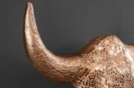 Elegante stierenkop matador 56 cm goud met mozaïek decoratie wanddecoratie