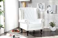 Fauteuil Model: Chesterfield Klassiek - Wit