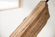 Handgemaakte vloerlamp 175 cm zwarte lamp van drijfhout met linnen kap