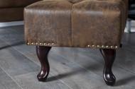 Hocker Model: Chesterfield - Antiek Bruin