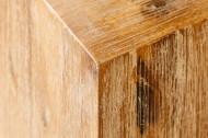 Hoogwaardige kolom bijzettafeltje 50 cm acacia teak grijs gekalkt