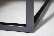 industriële bank antiek bruin 108cm zwart frame