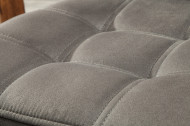 Industriële sledestoel vintage grijs met sierstiksels