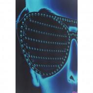 Ingelijste kunst glas Tough Girl 120x120cm
