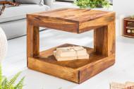 Massief kostbare houten salontafel GIANT 45 cm Sheesham Stone Finish