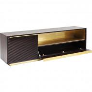 Massiefhout tv meubel 150cm bruin goud