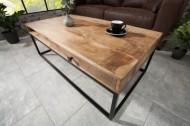 Massieve salontafel IRON CRAFT 100 cm mangohout met laden!!!! Leverbaar in AUGUSTUS 2020