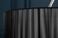 Moderne booglamp EXTENSO 230 cm zwart met marmeren voet