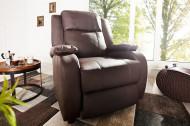 Moderne relax fauteuil HOLLYWOOD koffie TV fauteuil met ligfunctie