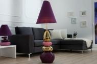 Paars met gouden STENEN Vloerlamp van extase  150 cm