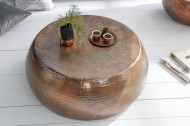 Salontafel Koper Handgemaakt 80cm gevlamd hamerslag design