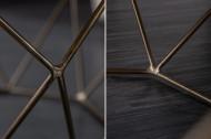 Salontafel Messing met Mangohout Blad Diamond 69 cm naturel