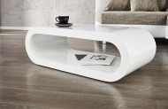 Salontafel Model: Bowl - hoogglans wit