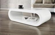 Salontafel Model: Bowl - hoogglans wit
