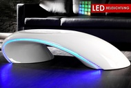 Salontafel Model: Curve Wit + LED