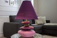 STENEN Tafellamp  ECSTASY violet goud 60 cm