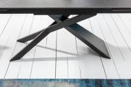 Uitschuifbare eettafel keramiek in grafietlook EUPHORIA 180-220-260 cm