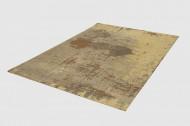 Vintage katoenen vloerkleed MODERN ART 240x160 cm zandbruin used-look