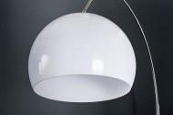 Vloerlamp Boog LOUNGE DEAL 175-205 cm witte marmeren voet vloerlamp