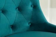 Bureaustoel chesterfield Stof turquoise fluweel