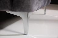 Chesterfield stof Fluweel donkergrijs 3-zitsbank 235 cm