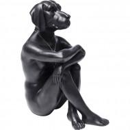 Decoratie beeld gangster hond zwart