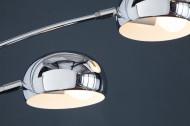 Design booglamp FIVE LIGHTS 205 cm zilveren vloerlamp met marmeren voet