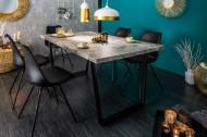 Design eettafel LOFT betonlook 160cm met slede onderstel industriële stijl