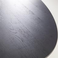 Eettafel ovaal zwart Eiken hout & metaal - 300x120