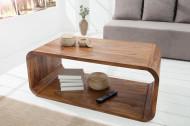 Elegante houten salontafel zoals tv meubel CUBUS 100 cm tv-plank met sheeshamsteen afwerking