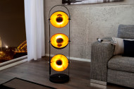 Elegante vloerlamp STUDIO 130cm zwart bladgoud look 3 neigbare kappen