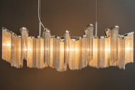Extravagante hanglamp ELEGANCE 118 cm zilveren hanglamp