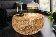 Filigraan design salontafel LEAF 80cm goud handgemaakt Leverbaar in Medio JUNI