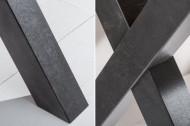 Industrieel bureau MONTREAL 140 cm knoestig eiken met zwart X-frame