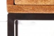 Industriële salontafel IRON CRAFT mangohout 45 cm met bijzettafellade