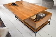 Industriële salontafel mangohout met scharnierend blad 80 cm