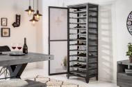 Industriële wijnkast BODEGA 184 cm gerecycled grenen hout grijs wijnrek voor 72 flessen