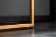 Massief dressoir SCORPION 177 cm van zwart mangohout, gedetailleerd 3D-houtsnijwerk