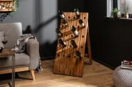 Massief Staande wijnrek 107 cm teakhouten flessenhouder voor 25 flessen