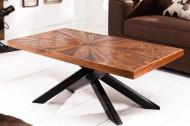 Massiev mangohout salontafel industriële stijl WOOD ART 105 cm