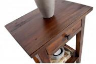 Massieve bijzettafel HEMINGWAY 55cm koffie mahonie Shabby Chic telefoontafel