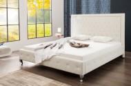 Modern design 2 persoons-bed extra vagância 180 x 200 cm, wit gestoffeerd bed