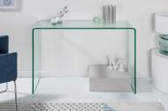 Moderne Design Glazen bureau zoals sidetable 100 cm volledig transparant glas