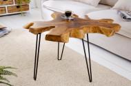 Unieke bijzettafel WILD 60cm teakhouten salontafel